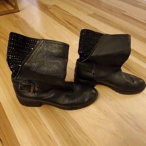 Womens Giani Bini black slip on boots size 8.5